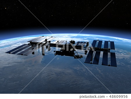國際空間站國際空間站perming3DCG插圖素材 48609956