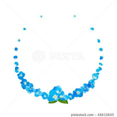 Rounded illustration made of blue hydrangea 48610605