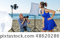 Professional photo shooting outdoors 48620286
