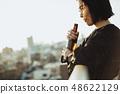 여성 옥상 라이프 스타일 48622129
