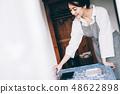 여성 라이프 스타일 식사 준비 48622898