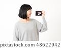 女性懷孕迴聲圖片 48622942