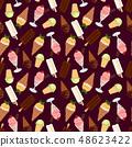 Assorted ice cream seamless pattern. Vector illustration 48623422