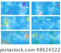 Bleeding paint background Wallpaper 48624322