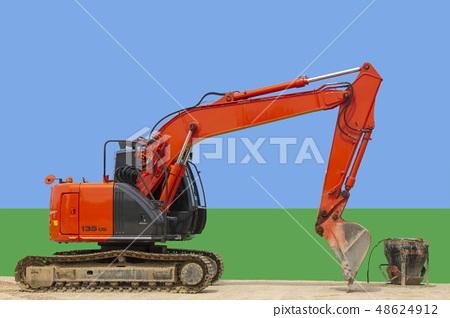 Heavy machine _ excavator 48624912