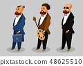 Cool Men Cartoon Vector Characters Collection 48625510