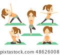 婦女做瑜伽各種姿勢集 48626008