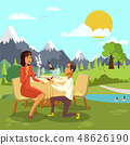 Romantic Marriage Proposal Cartoon Illustration 48626190