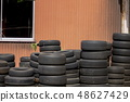 폐기 타이어 48627429
