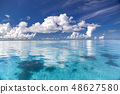 Ocean of coral reef with outstanding transparency 48627580