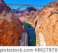 Famous and amazing Hoover Dam at Lake Mead 48627878