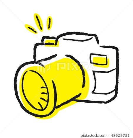 照相機手寫的例證。 48628781