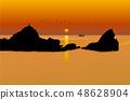 Landscape, nature, scenery, seasons, sunset, sea, island, sunset landscape, sunset, 48628904