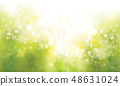 Vector green, spring  background. 48631024