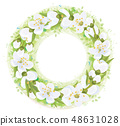 Vector  floral  circle  frame.   48631028