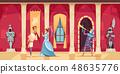Castle Interior People Cartoon 48635776