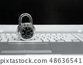 筆記本電腦,掛鎖,信息保護 48636541