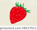 딸기 그린 수채화 48637621