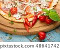 Hot homemade Italian pizza 48641742