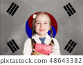 South Korea concept with kid little girl student 48643382