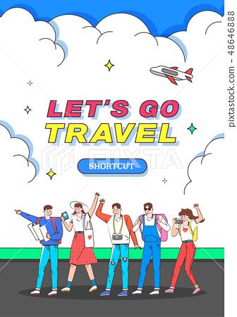 Neutro風格旅行插圖 48646888