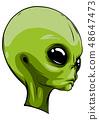 alien extraterrestrial green face mascot vector illustration 48647473
