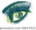 眼睛 目光 眼 48647622