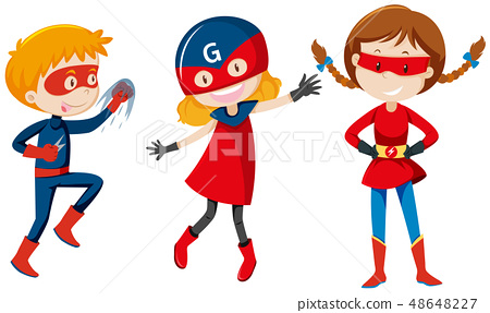 Set of super hero character 48648227