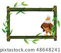 An eagle on bamboo border 48648241