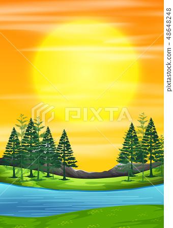 A nature sunrise scene 48648248