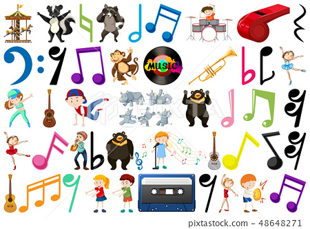 Music note people and animal 48648271