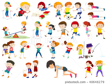 Set of exercise kids 48648279