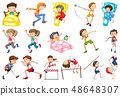 Set of daily activity kids 48648307