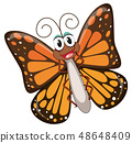 A happy butterfly character 48648409