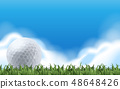 Golf on the green field 48648426
