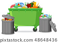 Isolated trash container on white background 48648436