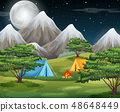 Camping in he nature 48648449