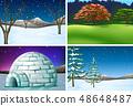 Set of nature landscape 48648487