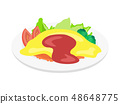 煎蛋飯 48648775