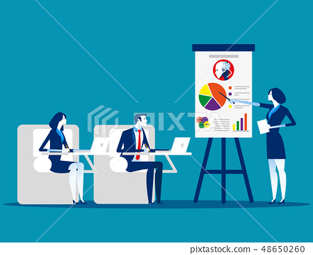 Meeting. Business team planning and working. 48650260