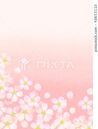 樱花水彩风格纹理 48653110