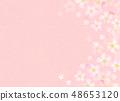 樱花水彩风格纹理 48653120