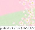 樱花水彩风格纹理 48653127