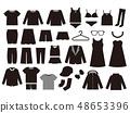 服裝剪影設置材料 48653396