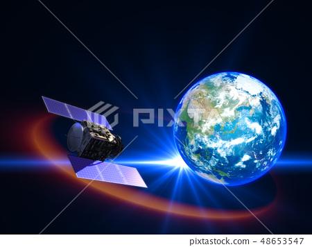 衛星地球日本日本GPS通信網絡 48653547