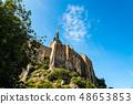 View of Mont Saint Michel against sky 48653853