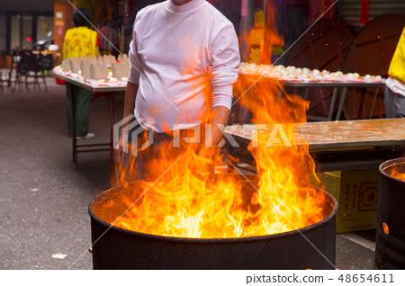 宗教信仰,焚燒紙錢,宗教、紙幣を燃やす、Religion, burning paper money, 48654611