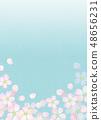 樱花水彩风格纹理 48656231