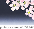 樱花水彩风格纹理 48656242