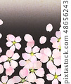 樱花水彩风格纹理 48656243